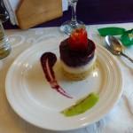 Fusion kitchen blackberry dessert