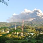 Turrialba Volcano from Santa Cruz