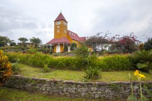 Church of Aquiares (coffee hacienda on Turrialba Volcano). Courtesy of Luciano Capelli