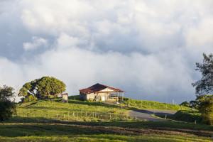 Farmhouse on  the turrialba Volcano. Courtesy of Luciano Capelli