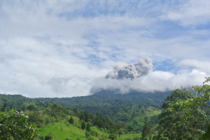 Last week's eruption of the Turrialba Volcano from Guayabo Lodge