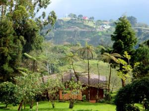Farm house on Turrialba Volcano