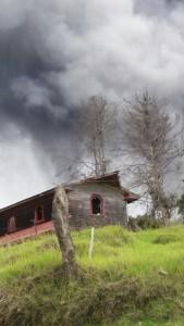 Volcanic eruption La Central Turrialba Volcano. Foto courtesy of Rolando Pacheco